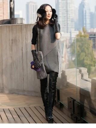 韩雪时尚春装街拍 妙曼身姿尽显小女人气质