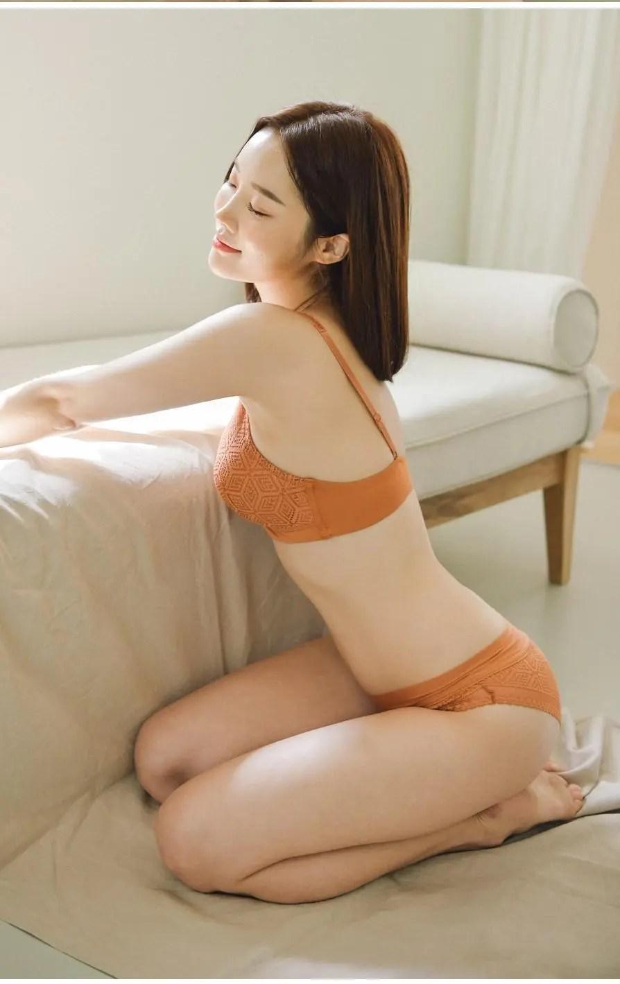 Park Ji-soo in Orange