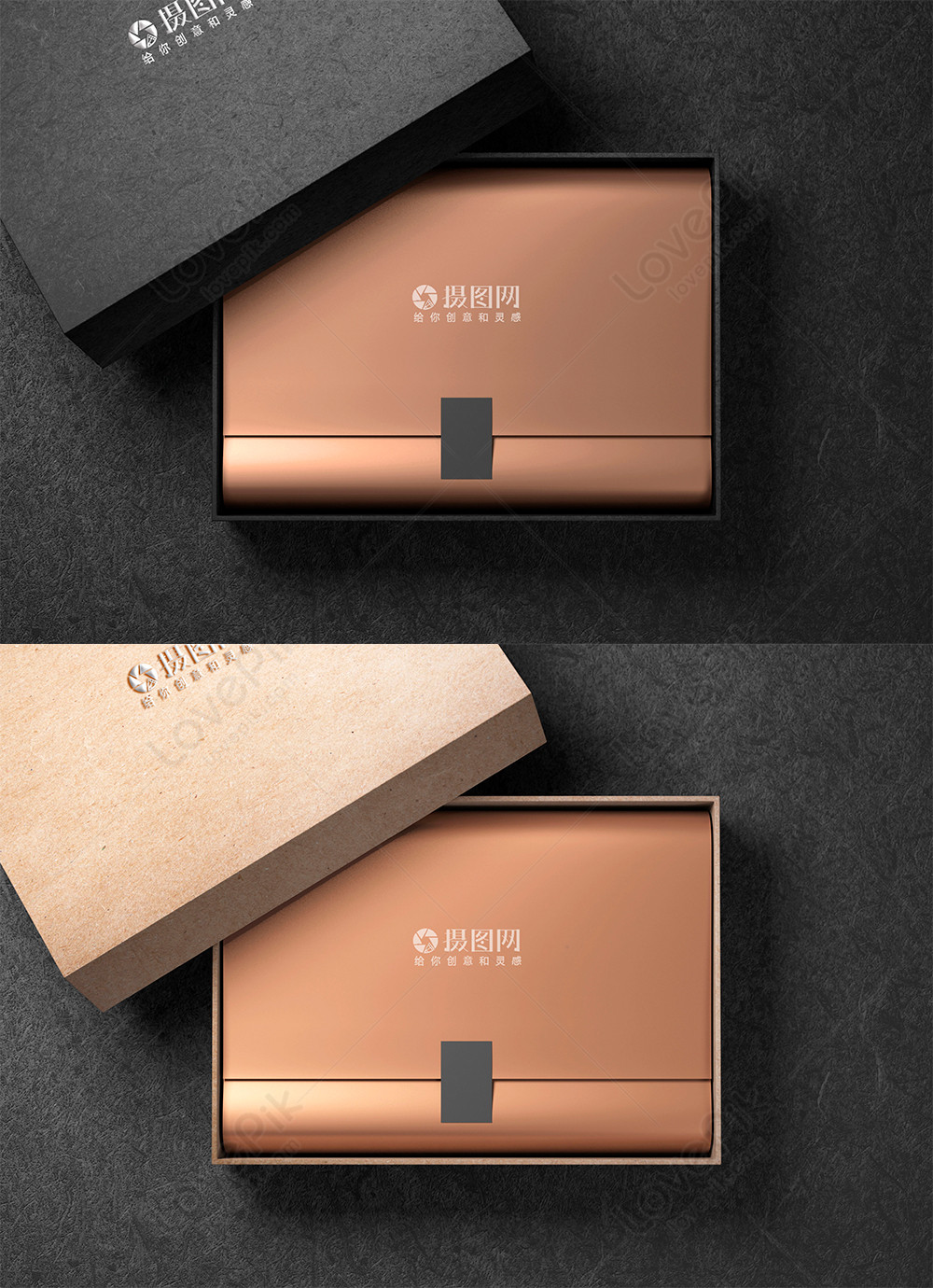 Download Golden gift box mockup template image_picture free ...