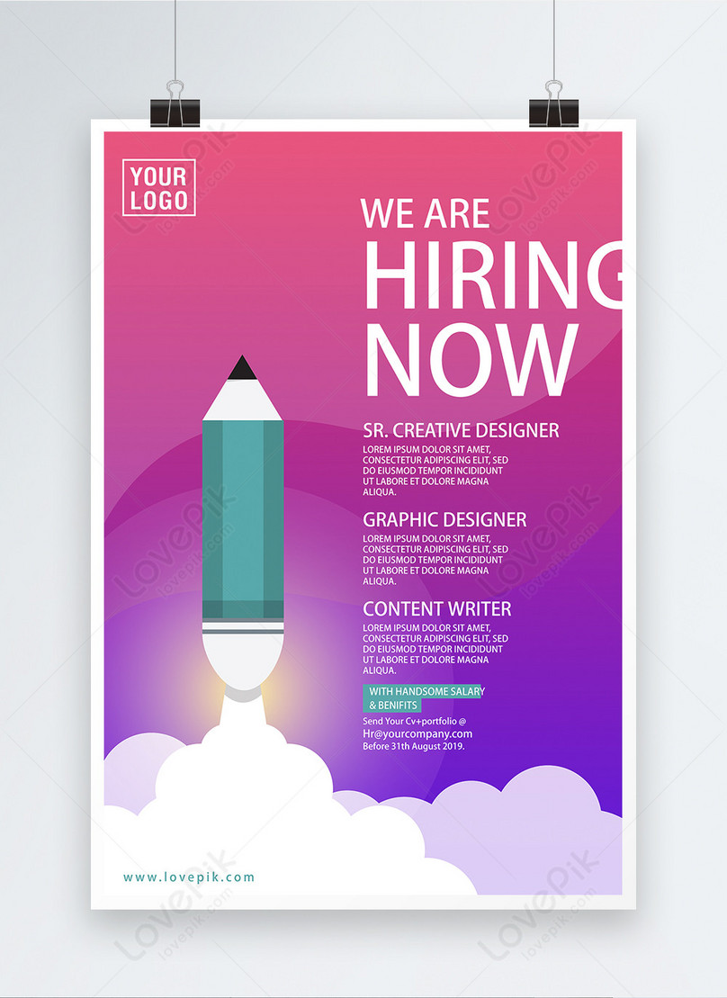 illustration style recruitment poster