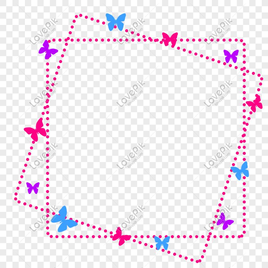 Photo De Bordure Decorative Papillon Numero De L Image401290438 Format D Image Png Fr Lovepik Com