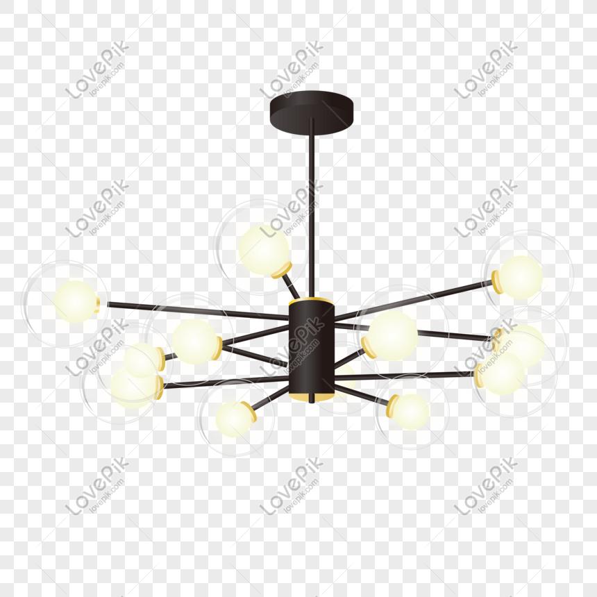 Chandelier Led Light Living Room Lamp Nordic Black Home Glass La Png Image Psd File Free Download Lovepik 401476968