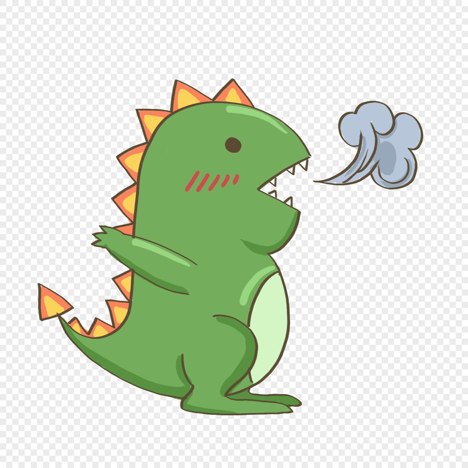 綠色卡通噴火恐龍PSD圖案素材免費下載 - 尺寸1500 × 1500px - 圖形ID401555629 - Lovepik