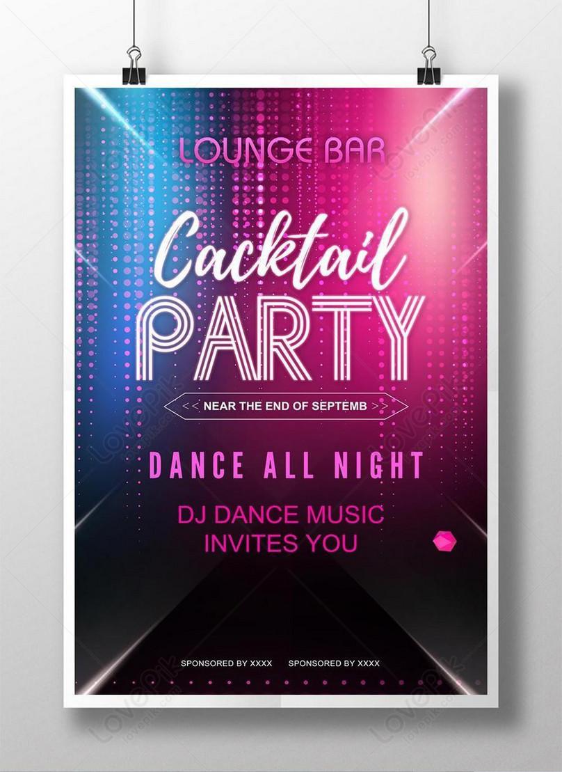 colorful neon nightclub bar music party