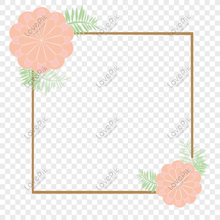 Flower Border Vector Wireframe Topic Box Png Image Picture Free Download 610185377 Lovepik Com