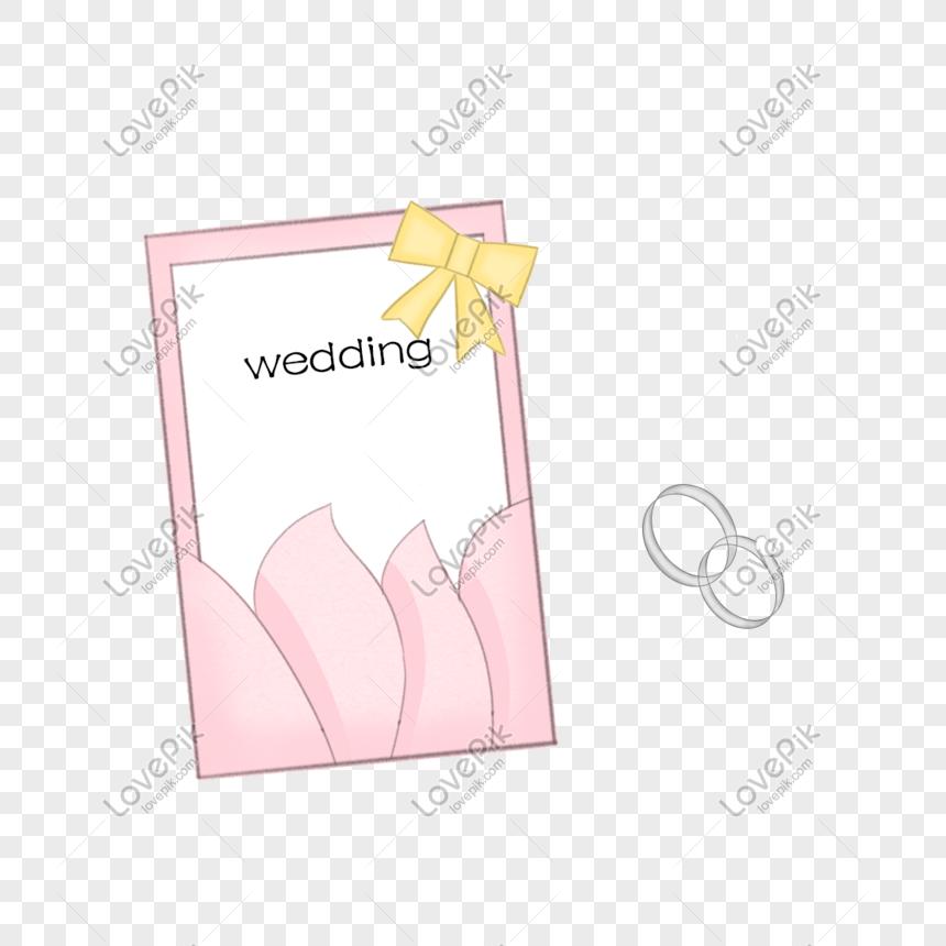Kartu Ucapan Pernikahan Cincin Berlian Ilustrasi Gambar Unduh