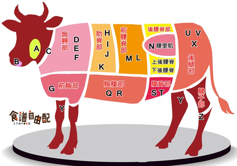 【圖解】一張圖看懂牛肉各部位!料理秘訣一併學會 - 食譜自由配 - 自由電子報