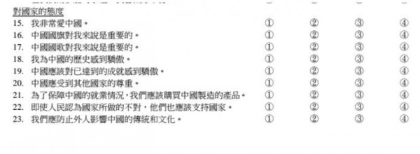 香港教育局評估小學生價值觀 問卷要填「中國認同」 - 國際 - 自由時報電子報