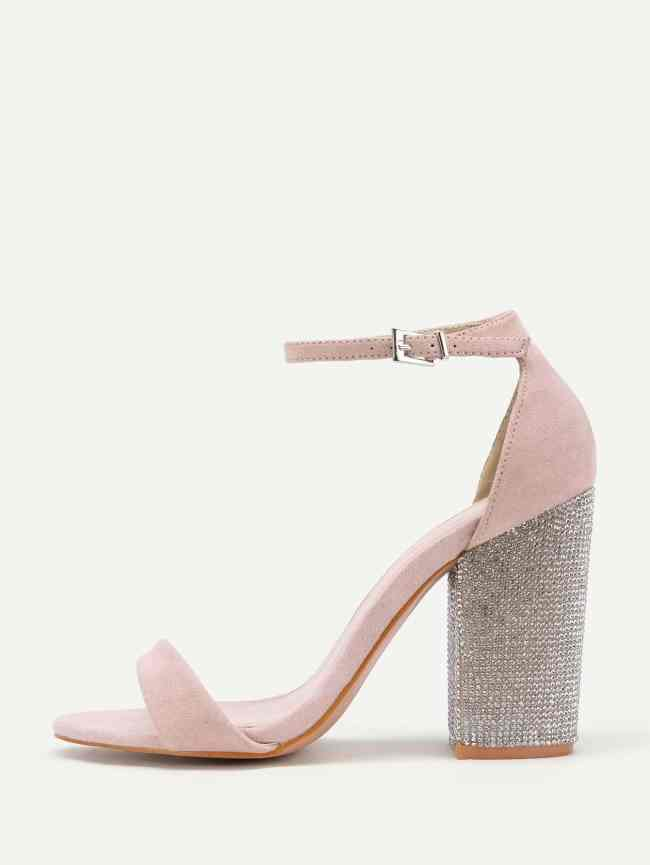 SheIn Block Heeled Two Part Sandals