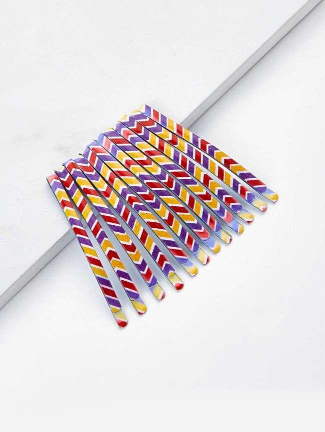 SheIn Color Block Hair Clip 12pcs
