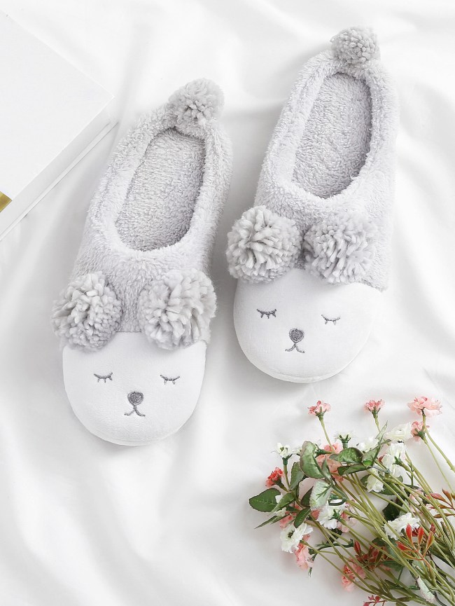 SheIn Critter Faux Fur Slippers
