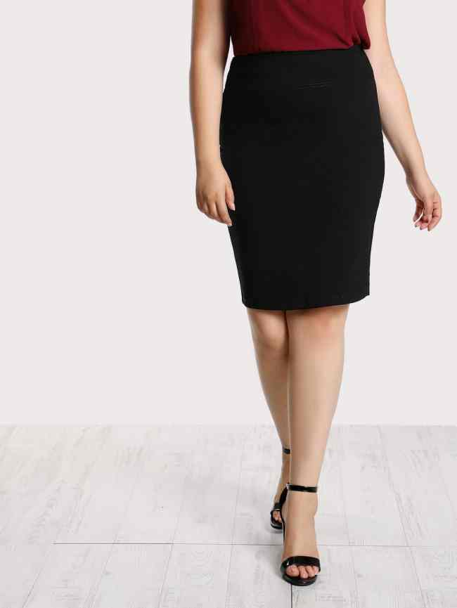 SheIn Solid Pencil Skirt