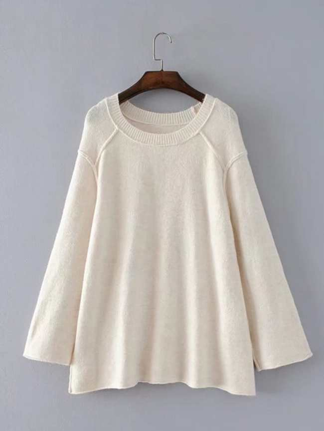 SheIn Seam Detail Swing Sweater