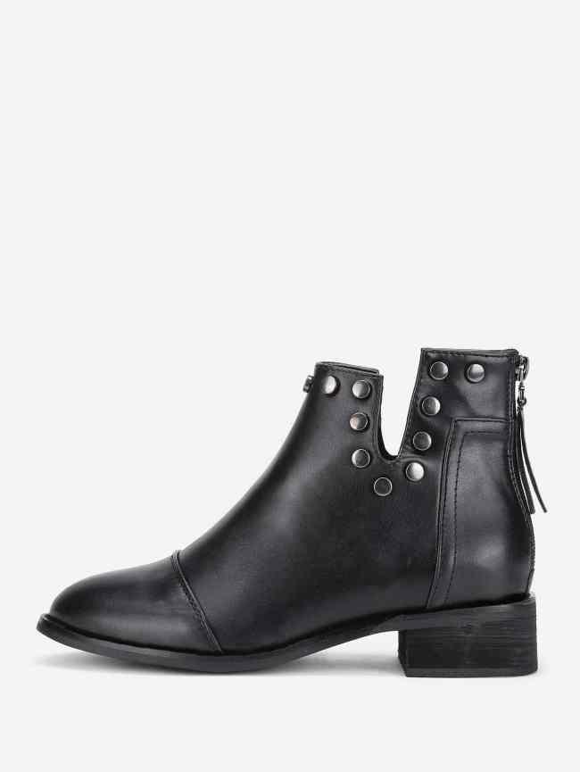 SheIn V Cut Studded Boots