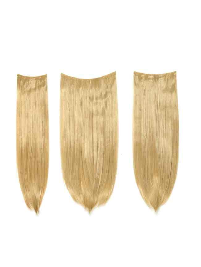 SheIn Golden Blonde Clip In Straight Hair Extension 3pcs