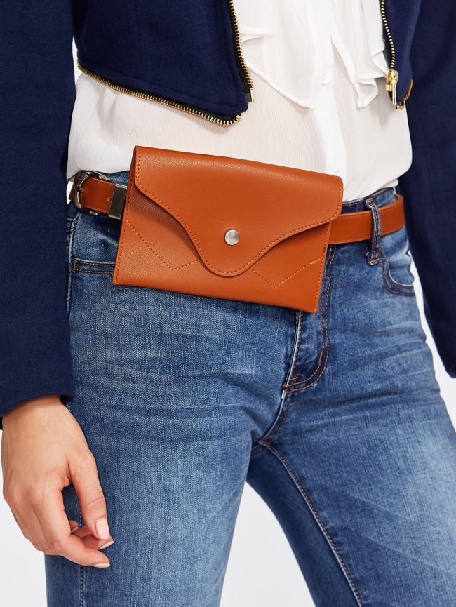 SheIn Faux Leather Belt With Pouch