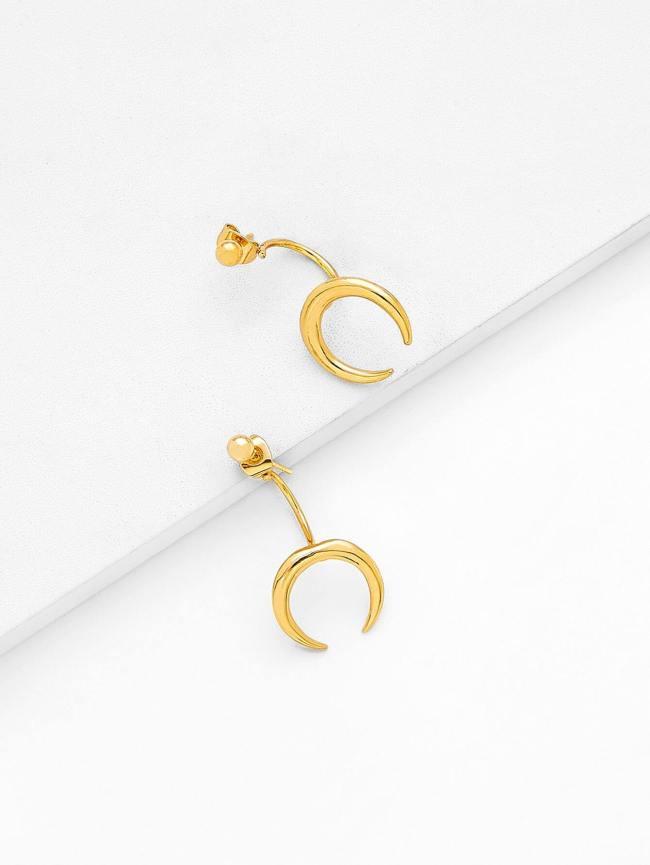 SheIn Crescent Moon Drop Earrings