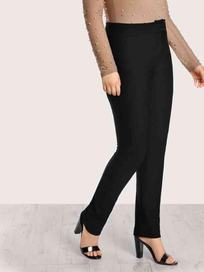 SheIn Solid Cigarette Pants