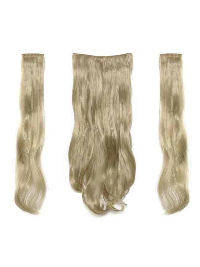 SheIn Light Golden Blonde Clip In Soft Wave Hair Extension 3pcs