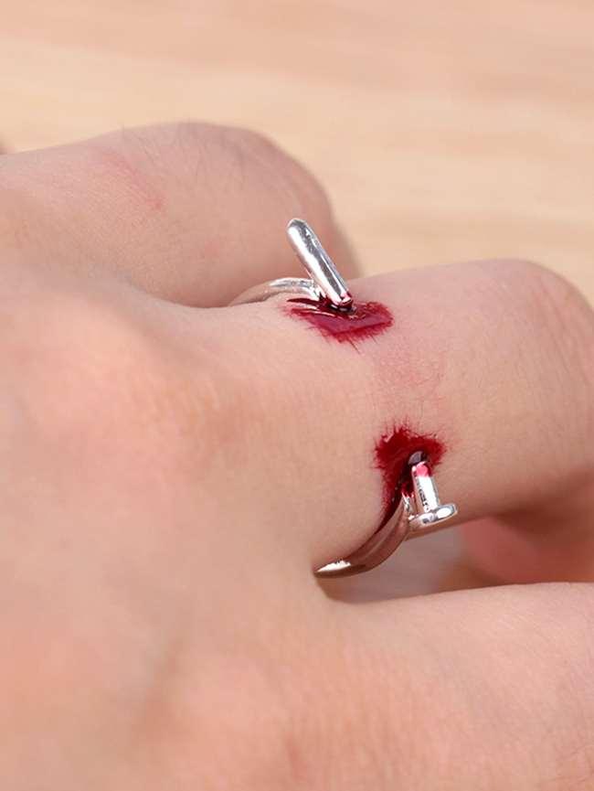SheIn Nail Design Open Ring
