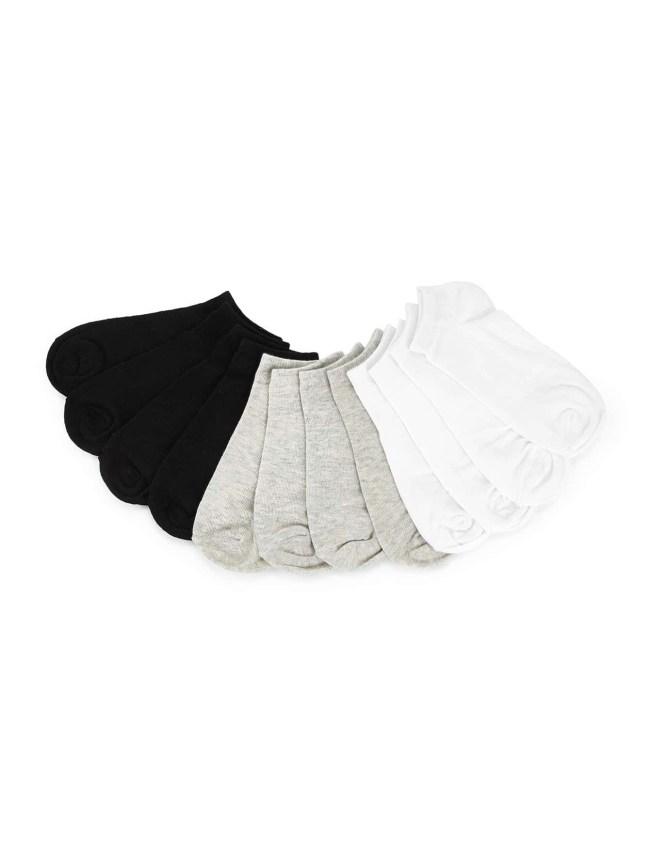 SheIn Plain Invisible Socks 6pairs