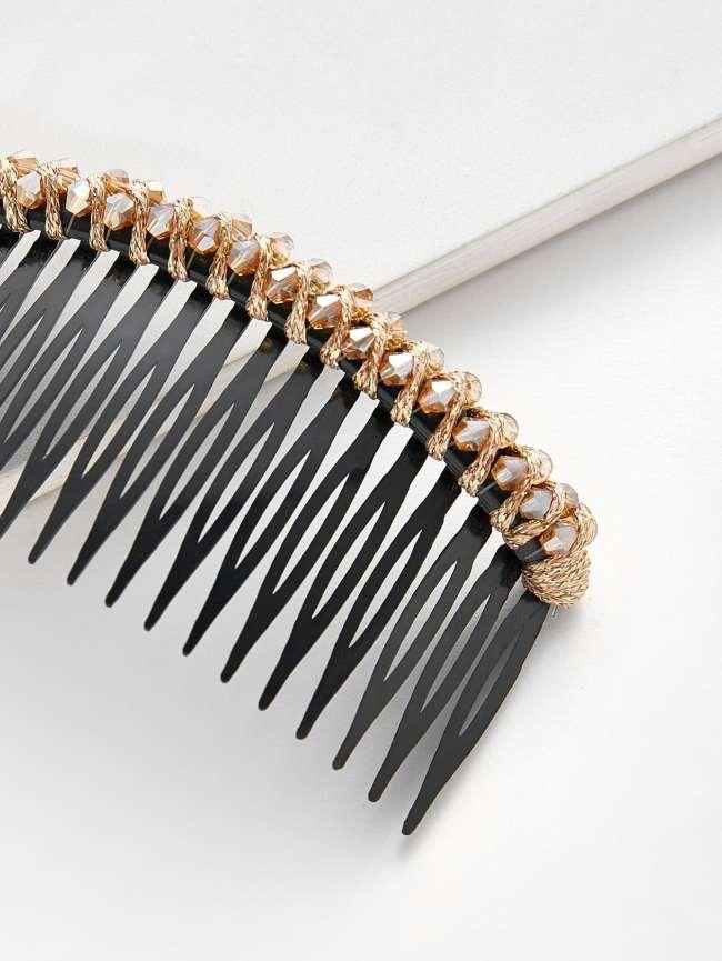 SheIn Rhinestone Trim Comb Clip