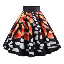 50s Graphic Print Skirt