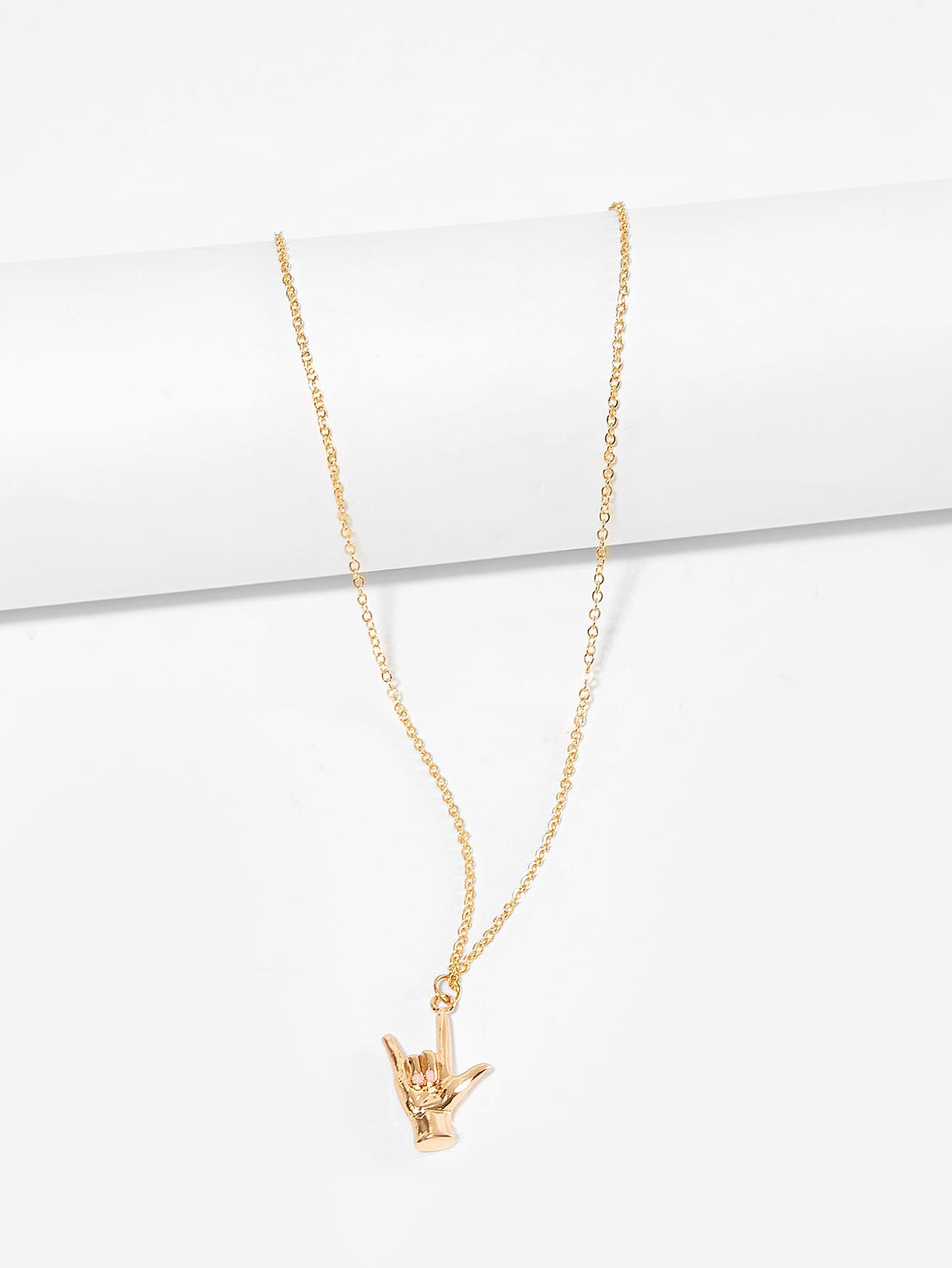 Metal Hand Pendant Chain Necklace