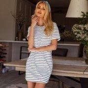 Striped Print Tee Dress