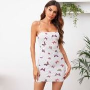 Butterfly Print Bodycon Dress