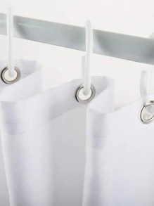 hydrangea hot air balloon print shower curtain