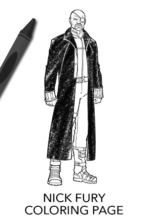 nick fury avengers coloring pages avengers nick fury coloring page