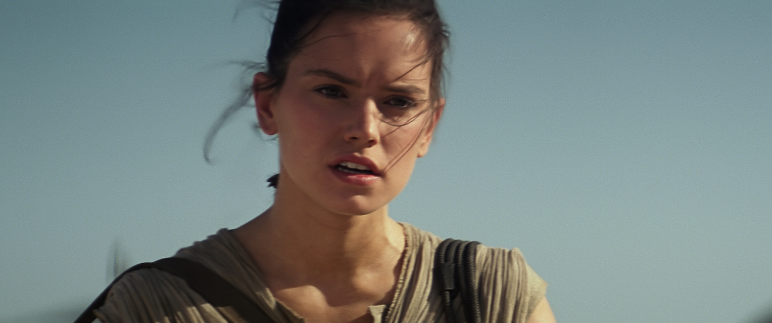 Daisy Ridley as Rey from Star Wars: The Force Awakens