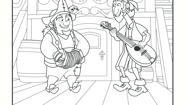 sharky and bones coloring pages disney junior