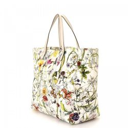 e704ab4a64a9 Gucci Floral Tote Canvas Lxrandco Pre Owned Luxury Vintage