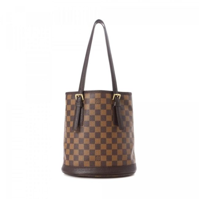 Louis Vuitton Marais Damier Ebene Brown Coated Canvas Shoulder Bag