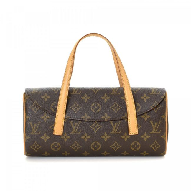 Louis Vuitton Sonatine Monogram Brown Coated Canvas Handbag