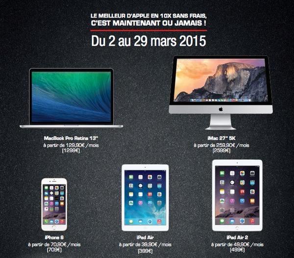 Un Crdit 10x Sans Frais Sur Des Mac IPhone Et IPad Chez