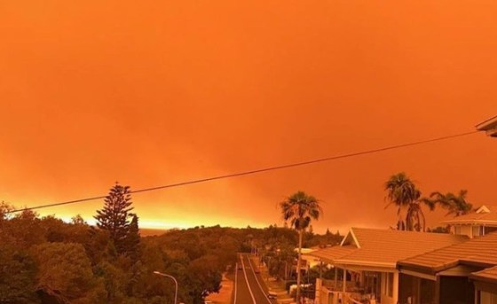 Wave of fires in Australia (Photo: sky news)