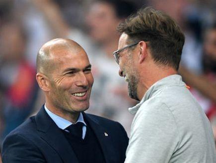 Sparkling meeting between Klopp and Zidane (getty) (Photo: Sport 5)