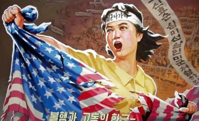 Propaganda paintings in North Korea