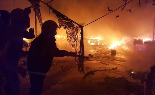 A fire at a corona hospital in Iraq