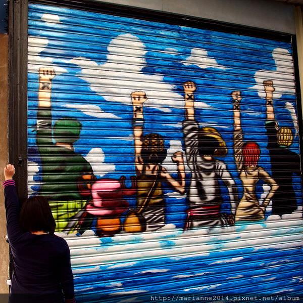 台中西區景點|林森路動漫彩繪巷