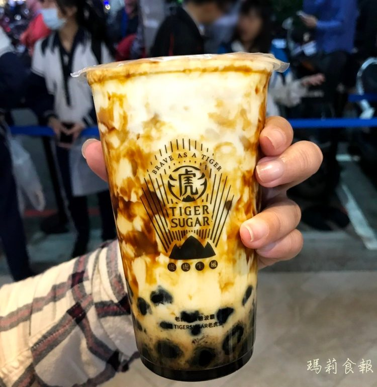 台中北區 老虎堂黑糖專賣 虎紋波霸厚鮮奶 IG最熱的一中街超人氣飲料店