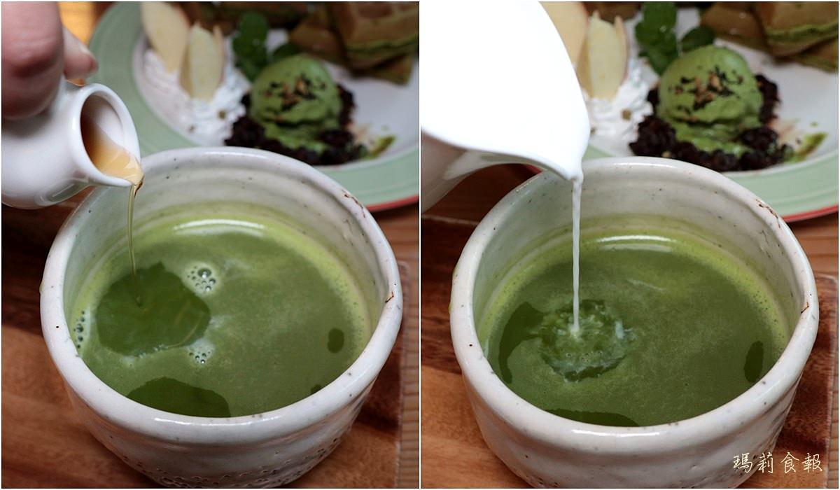 台中北區美食,初綠和風定食抹茶專賣,下午茶鬆餅,台中下午茶森半抹茶