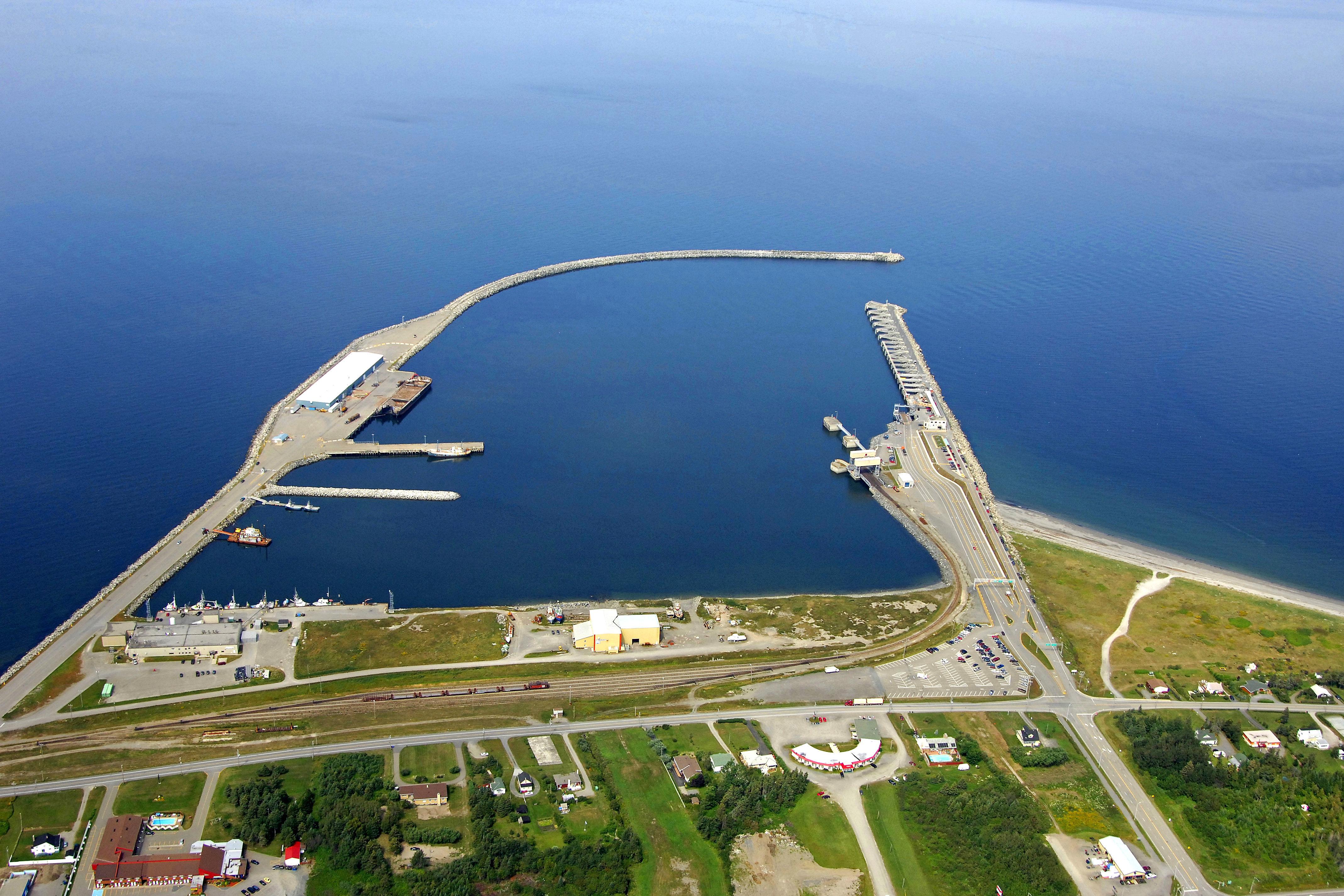 Matane Harbor In Matane Qc Canada