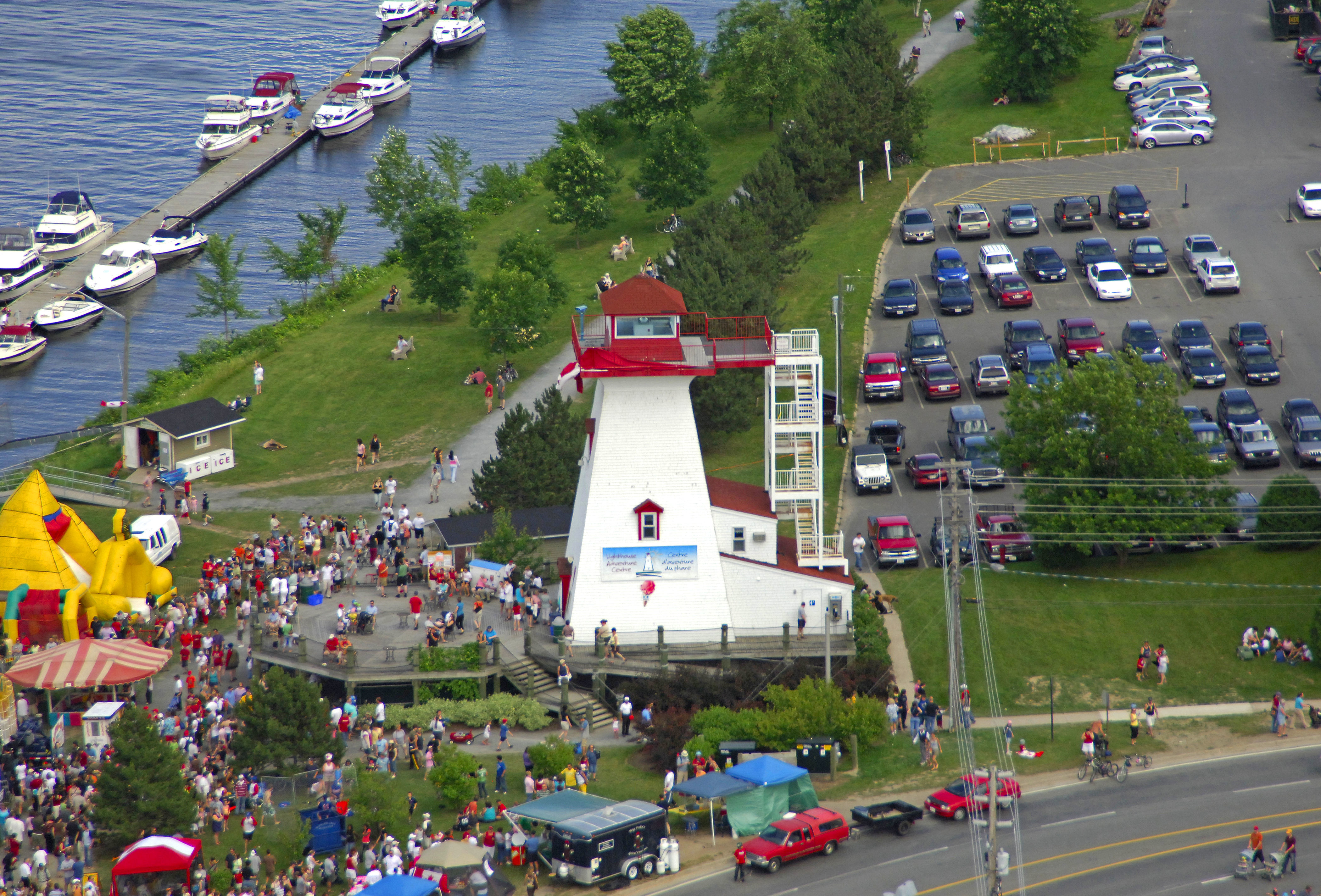 Fredericton Lighthouse In Fredericton NB Canada
