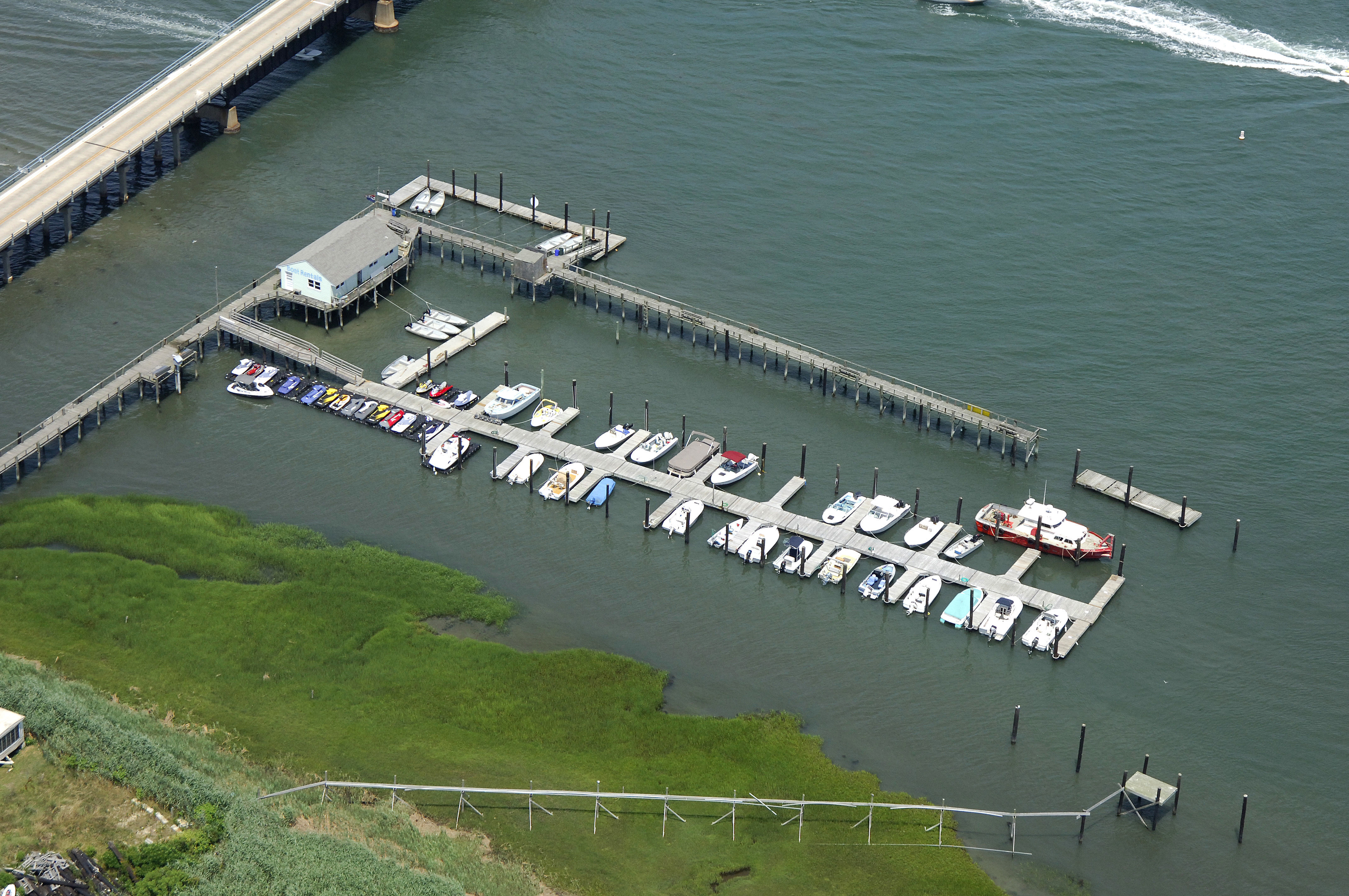 Dads Place Marina In North Wildwood NJ United States