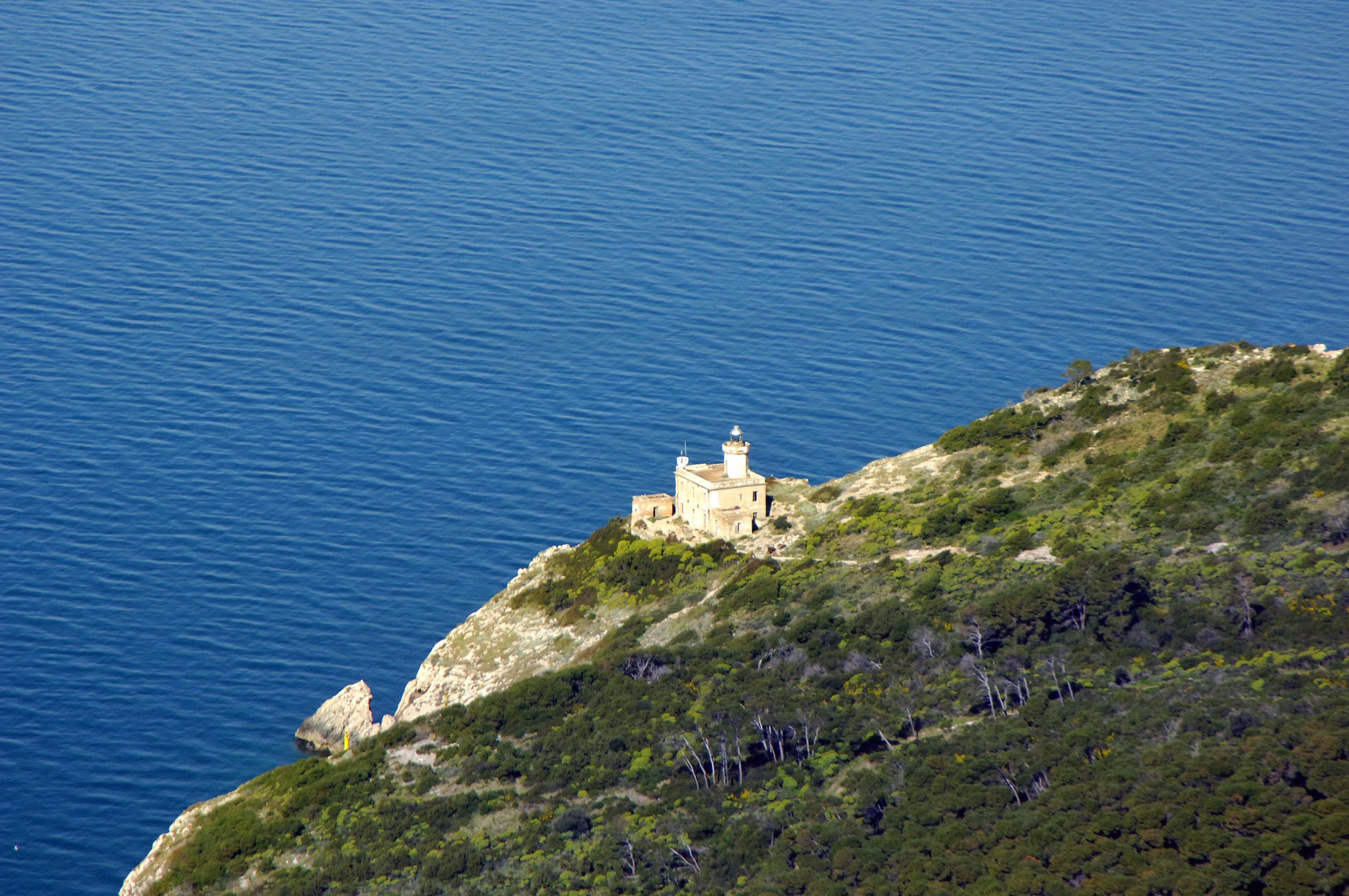 San Domino Light Lighthouse In Isole Tremiti Italy
