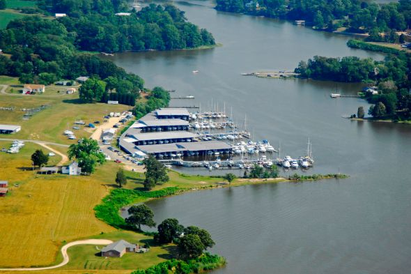 Image result for aerial view of olverson's marina va